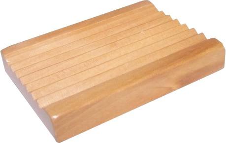 Seifenablage Holz gerillt